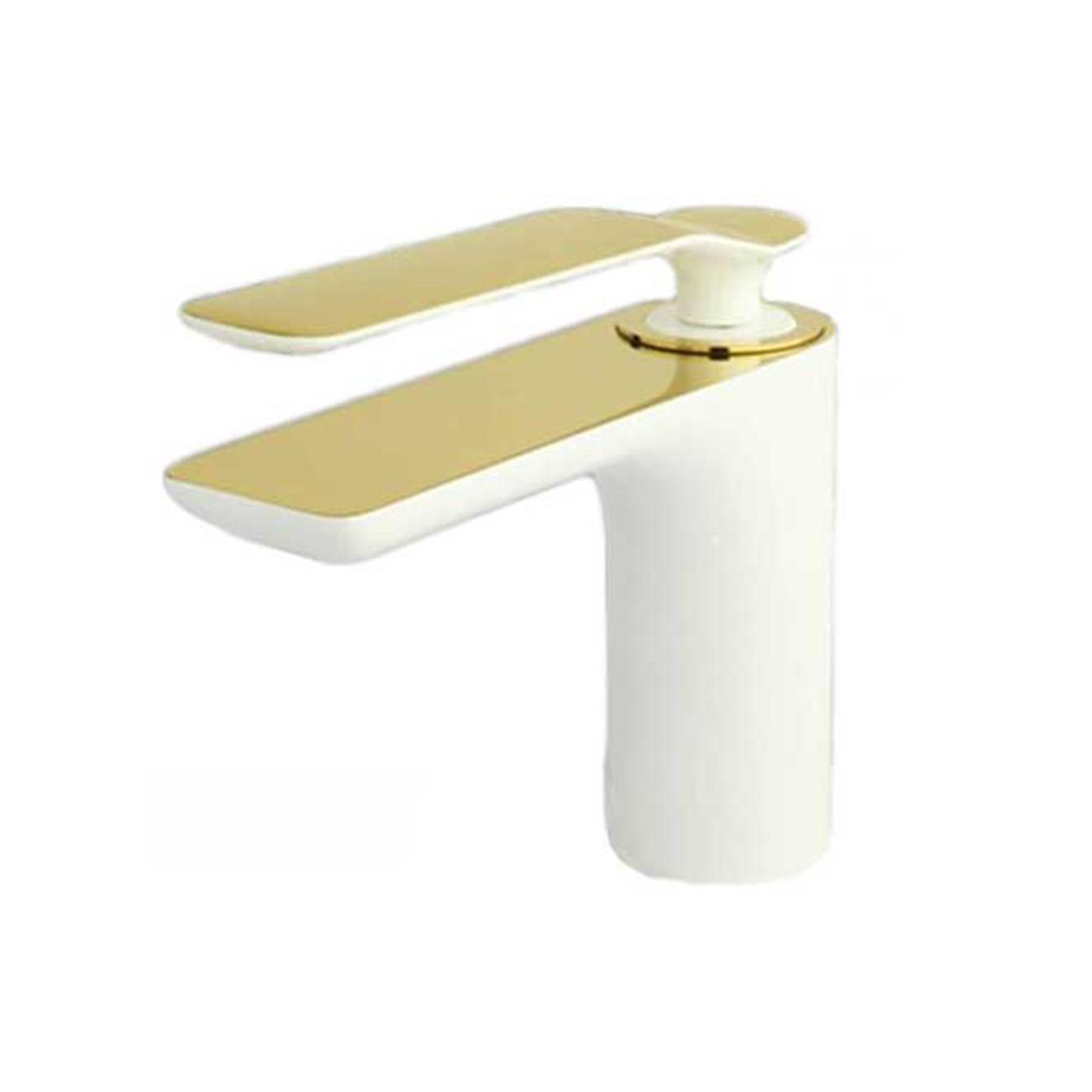 شیر روشویی ویولت سفید طلایی راسان